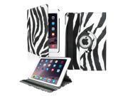 GEARONIC TM 2014 Apple iPad Air 2 360 Degree Rotating Stand Smart Cover PU Leather Swivel Case Zebra