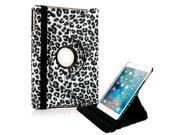 GEARONIC TM 360 Degree Rotating PU Leather Case with smart sleep wake Function Cover Swivel Stand  for Apple iPad Mini 4 - Black Leopard
