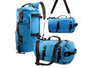 Oct17 Men s Vintage Canvas Hiking Backpack Travel Duffel Camping Sport Rucksack Satchel School Messenger Bag Sky Blue
