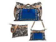 Oct17 Women Fashion Canvas Bag Tote Messenger Faux Leather Lady Purse Shoulder Crossbody Handbag