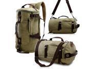 Oct17 Men s Vintage Canvas Hiking Backpack Travel Duffel Camping Sport Rucksack Satchel School Messenger Bag Army Green