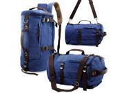 Oct17 Men s Vintage Canvas Hiking Backpack Travel Duffel Camping Sport Rucksack Satchel School Messenger Bag Blue