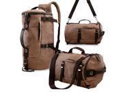 Oct17 Men s Vintage Canvas Hiking Backpack Travel Duffel Camping Sport Rucksack Satchel School Messenger Bag Coffee