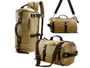 Oct17 Men s Vintage Canvas Hiking Backpack Travel Duffel Camping Sport Rucksack Satchel School Messenger Bag Khaki