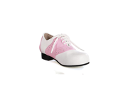 Pink and White Saddle Shoes