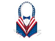 Plastic Patriotic Vest with Waist Ties