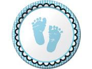 Sweet Baby Feet Blue Cake Plates (8 Pack) - Party Supplies