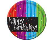 Birthday Celebrations Cake Plates (8 Pack) - Party Supplies