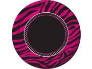 "Pink Zebra Boutique 7"" Lunch Plates (8 Pack) - Party Supplies"