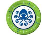 Preppy Blue Ocean Party Cake Plate (8-pack) - Party Supplies 9SIA0BS0NC2646