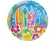 "Hula Beach Party 7"""" Cake Plates (8 Pack) - Party Supplies"" 9SIA0BS30E0162"
