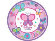 "Sweet 1st Birthday Girl 7"""" Cake Plates (18 Pack) - Party Supplies"" 9SIA0BS2YY0806"