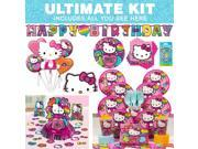 Hello Kitty Rainbow Ultimate Kit (Serves 8) - Party Supplies 9SIA0BS2YY1377