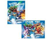 Skylanders Invitation/Thank You Set (16 Pack) - Party Supplies 9SIA2K34TG3439