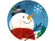 Joyful Snowman Cake Plates (8 Pack) - Party Supplies 9SIA0BS12Z2842