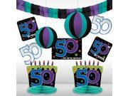 The Party Continues 50th Birthday Decorating Kit - Party Supplies 9SIA0BS0NC3183