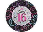 "Sweet 16 Celebration 9"""" Luncheon Plates (8 Pack) - Party Supplies"" 9SIA0BS2YY0288"