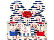Nautical Deluxe Party Tableware Kit (Serves 8) - Party Supplies 9SIA0BS40W7909