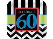 """Chevron Mix 60th Birthday 7"""""""" Cake Plates (8 Pack) - Party Supplies"""" 9SIA0BS2YY0676"""