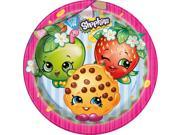 """Shopkins 9"""""""" Lunch Plates (8 Count) - Party Supplies"""" 9SIABHU58N7071"""