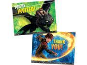 How to Train Your Dragon Invitation/Thank You Set (16 Pack) - Party Supplies 9SIA0BS2YX9396
