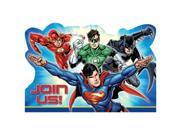Justice League Postcard Invitations (8 Count) - Party Supplies 9SIABHU5905695