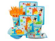 One Wild Boy 1st Birthday Standard Kit (Serves 8) - Party Supplies 9SIA0BS2YY0442
