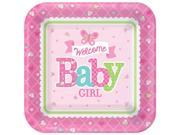 """Welcome Little One Girl 7"""""""" Plate (8 Count) - Party Supplies"""" 9SIA0BS3V17779"""