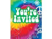 Tie Dye Invitations (8-pack) - Party Supplies 9SIV16A66W5299