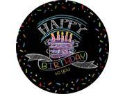 "Chalk Party 9"""" Luncheon Plates (8 Pack) - Party Supplies"" 9SIA0BS2YX9233"