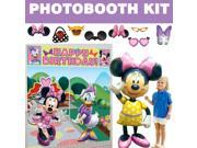 Minnie Mouse Deluxe Photo Booth Kit - Party Supplies 9SIA0BS3U59683