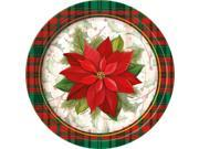 "Poinsettia Plaid 7"""" Plate (8 Count) - Party Supplies"" 9SIA0BS3KC9302"