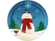 Joyful Snowman Luncheon Plates (8 Pack) - Party Supplies 9SIA0BS12Z1046