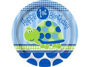 First Birthday Turtle Dinner Plates (8-pack) - Party Supplies 9SIA0BS0NC2706
