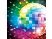 70's Disco Fever Luncheon Napkins (16 Pack) - Party Supplies 9SIA0BS2YY0958