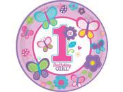 """Sweet 1st Birthday Girl 10 1/2"""""""" Luncheon Plates (18 Pack) - Party Supplies"""" 9SIA0BS30R6248"""