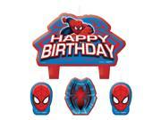 Spiderman Birthday Candle Set (4 Pack) - Party Supplies 9SIA0BS2YX9260