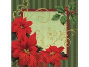Vintage Poinsettia Luncheon Napkins (36 Pack) - Party Supplies 9SIA0BS12H6644