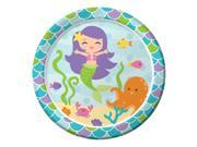 "Mermaid Friends 9"""" Lunch Plates (8 Count) - Party Supplies"" 9SIA0BS3VR0689"