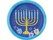 "8 Hanukkah Celebrate 7"""" Plates - Party Supplies"" 9SIA0BS3EF5484"