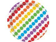 """Rainbow Birthday 7"""""""" Cake Plates (8 Pack) - Party Supplies"""" 9SIA0BS6V36738"""