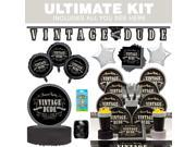 Vintage Dude Ultimate Tableware Kit (Serves 8) - Party Supplies 9SIA0BS2YY1496