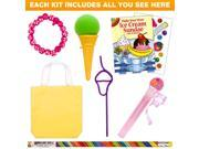 Ice Cream Party Deluxe Favor Kit (for 1 Guest) - Party Supplies 9SIA0BS2YX9838