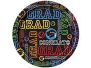 "Grad Party 7"""" Cake Plates (8 Pack) - Party Supplies"" 9SIA0BS2YY0405"