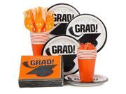 Congrats Grad Orange Standard Kit (Serves 18) - Party Supplies 9SIA0BS2YY0496