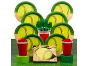 Softball Deluxe Party Tableware Kit (Serves 8) - Party Supplies 9SIA0BS46N8538
