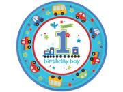 """All Aboard 1st Birthday 10 1/2"""""""" Luncheon Plates (18 Pack) - Party Supplies"""" 9SIA0BS2YY0833"""