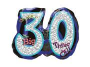 Oh No! 30Th Birthday Shaped Balloon - Party Supplies 9SIA0BS0NC2673
