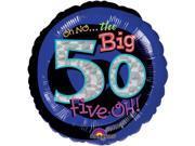 """Oh No! 50th Birthday 18"""""""" Balloon (Each) - Party Supplies"""" 9SIA0BS0NC2686"""