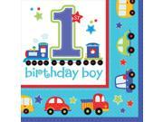 All Aboard 1st Birthday Luncheon Npakins (36 Pack) - Party Supplies 9SIA0BS2YX9334